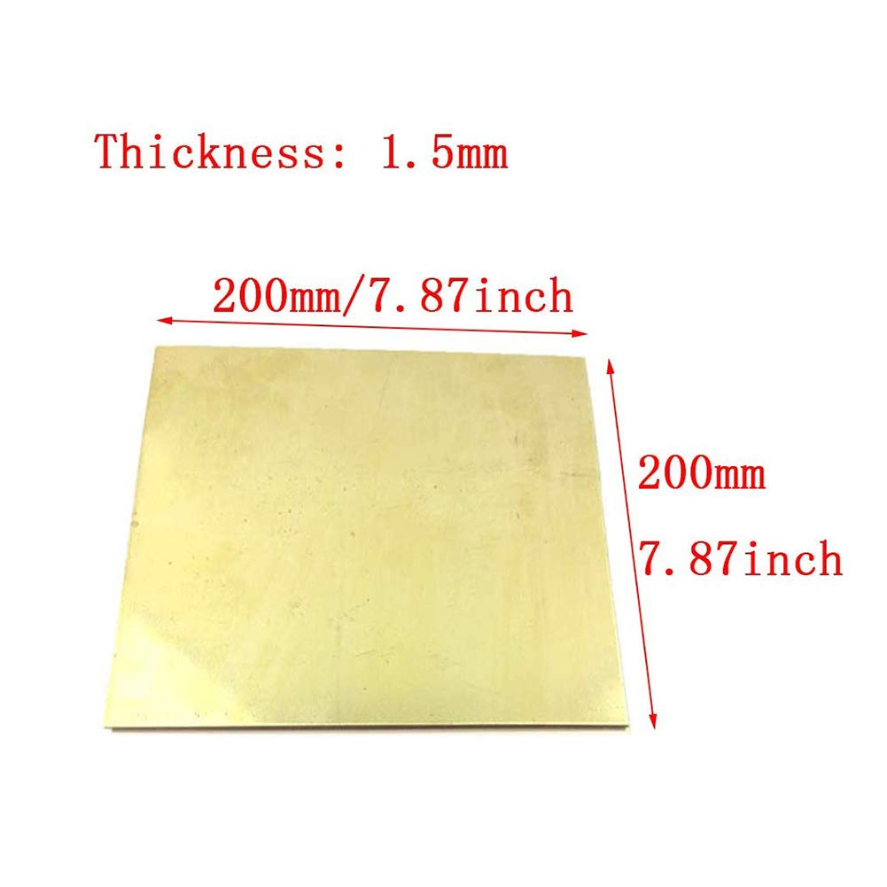 JumpingBolt Brass Sheet Plate .025 22 Gauge 5 x 8 Material May Have Surface Scratches