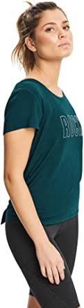 Rockwear Activewear Women's Evolve Split and Tie Back Tee from Size 4-18 for T-Shirt Tops