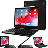 iPad Pro 11 2018 Keyboard, Snugg [Black] Wireless Bluetooth Keyboard Case Cover 360°