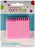 Amscan Amsdd Party Time Spiral Candy Stripe Birthday Candles (288 Piece), Pink, 2.5''