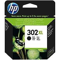HP 302 XL Nero (F6U68AE) Cartuccia Originale per Stampanti HP a Getto di Inchiostro, Compatibile con Stampanti HP DeskJet 1110; 2130 e 3630; HP OfficeJet 3830 e 4650; HP ENVY 4520