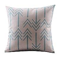 DECORLUTION Cotton Linen Decorative Throw Pillow Case Cushion Cover ( Retro B...