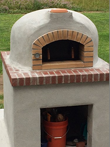 Beau Outdoor Pizza Oven, Wood Fired, Insulated, W/ Brick Arch U0026 Chimney