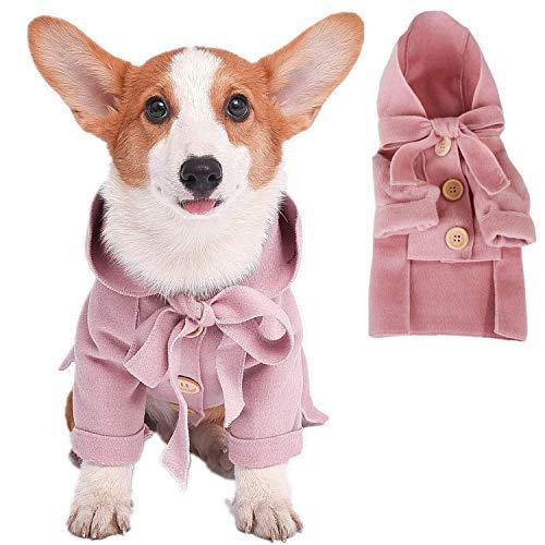 Leowow Small Dog Winter Coat Dog Winter Jacket Puppy Hooded Coat, Dog Apparel,Dog Snowsuit Dog WindbreakerJacket for…