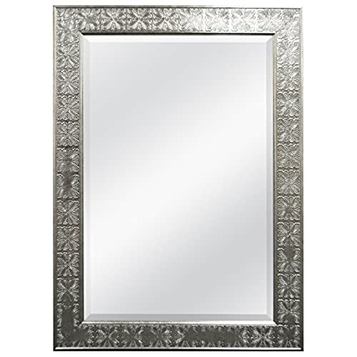 MCS 24x36 Stamped Medallian Mirror, 32x44 Inch Overall Size, Champagne  (47700)