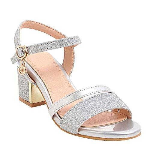 Sandales des MissSaSa Sequins Femmes Argent Décoration AUUfq