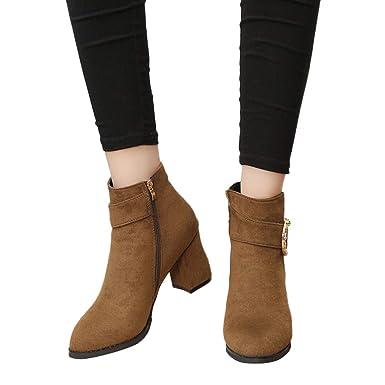 12f6a6034693 TianWlio Frauen Herbst Winter Stiefel Schuhe Stiefeletten Boots ...