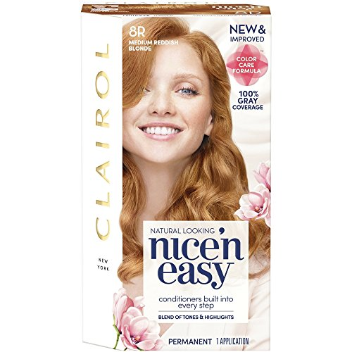 Clairol Nice'n Easy [8R] Medium Reddish Blonde Permanent Hair Color 1 ea (Pack of 3)