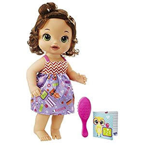 Best Epic Trends 51WKX%2BHo1yL._SS300_ Baby Alive C2695 READY FOR SCHOOL BABY: Brown Hair Baby Doll, School-Themed Dress, Doll Accessories Include Notebook…