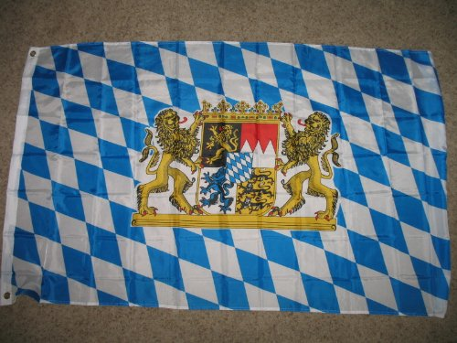 Ruffin Flag Company 3x5 Bavaria Germany with Lions Bavarian German Oktoberfest Octoberfest Flag New