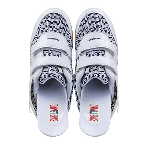 SAGUARO Jungen Mädchen Turnschuhe USB Lade Flashing Schuhe Kinder LED Leuchtende Schuhe Weiß-2