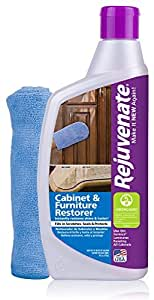 Rejuvenate Cabinet & Furniture Restorer Fills in Scratches - Seals and Protects Cabinetry, Furniture, Wall Paneling – 13 oz.