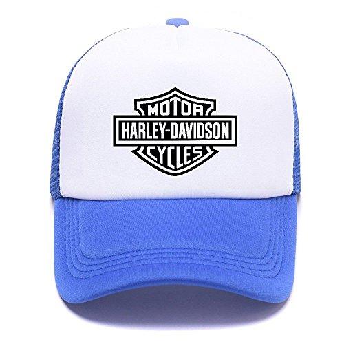 Harley D Black Baseball Caps Gorras de béisbol Trucker Hat Mesh Cap For Men Women Boy Girl 007 Blue