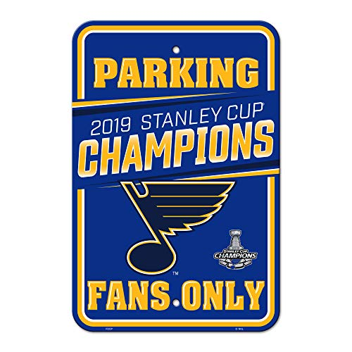 Fremont Die NHL St. Louis Blues Unisex NHL St. Louis Blues 2019 Stanley Cup Champions Parking SignNHL St. Louis Blues 2019 Stanley Cup Champions Parking Sign, Team Colors, 12