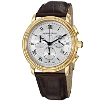 Frederique Constant Men's FC292MC4P5 Persuasion Brown Strap Chronograph Watch from Frederique Constant