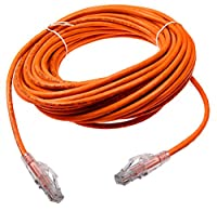 NTW 50 Ft. Lockable CAT6 Patented net-Lock RJ45 Ethernet Network Patch Cable (UTP),  Snagless, ORANGE