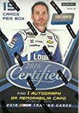 2016 Panini Certified NASCAR Racing Series Unopened Blaster Box with One Autographed or Driver Worn Memorabilia or Tire Swatch Card