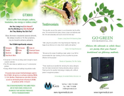 GT3000 - Adjustable Whole Home Air Purifier System