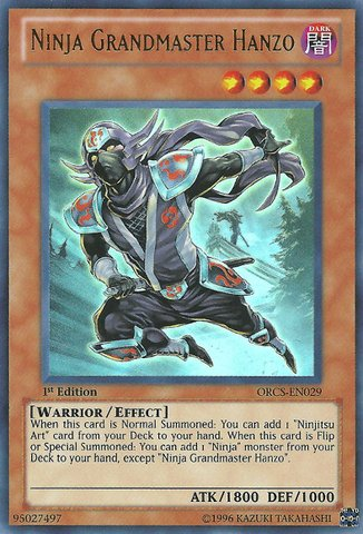 amazon com yu gi oh ninja grandmaster hanzo orcs en029 order