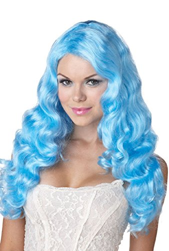 unbrand Sexy Sweet Tart Halloween Costume Wig (Blue)]()