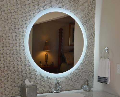 Lighted Wall Mirror: Amazon.com: Wall Mounted Lighted Vanity Mirror MAM92436 24: Home & Kitchen,Lighting
