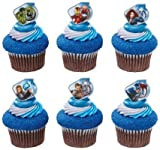 Captain America and the Avengers Super Hero Rings (36 pc) Cupcake Rings / Cake Topper. Featuring Thor, Iron Man, The Incredible Hulk, Captain America, Hawkeye, and Black Widow