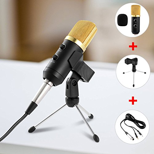 - WALLER PAA Professional USB Podcast Condenser Microphone PC Recording MIC with Stand Tripod