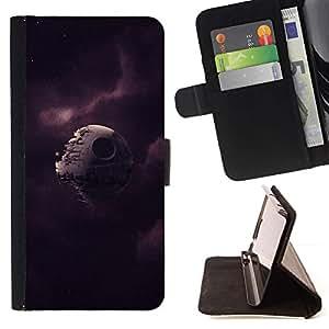 Momo Phone Case / Flip Funda de Cuero Case Cover - Broken Estrella de la Muerte;;;;;;;; - Samsung Galaxy S6 Active G890A