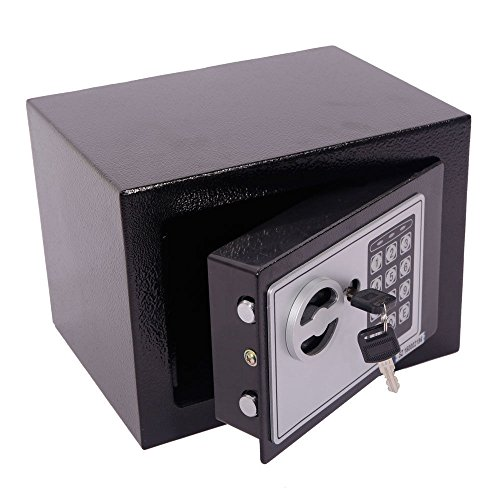 Marketworldcup - Digital Electronic Safe Box Keypad Lock Home Office Hotel Gun Steel Black