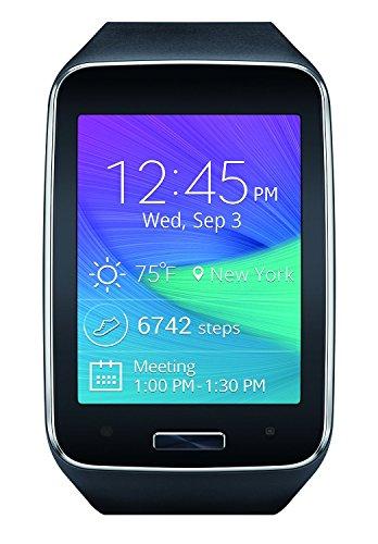 Samsung Galaxy Gear S R750 R750T Smart Watch, Black,(Certified Refurbished) (Black-Silver)