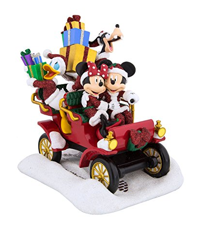 Cars Centerpiece Disneys - Disney Parks Santa Mickey & Friends in Christmas Car Figurine New with Box