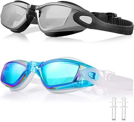 WOLFWILL Gafas de Natación de Triatlón Sin Fugas, Anti Niebla ...