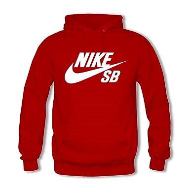 Nike SB Logo - Sudadera con Capucha - para Hombre Rojo X-Large: Amazon.es: Ropa y accesorios
