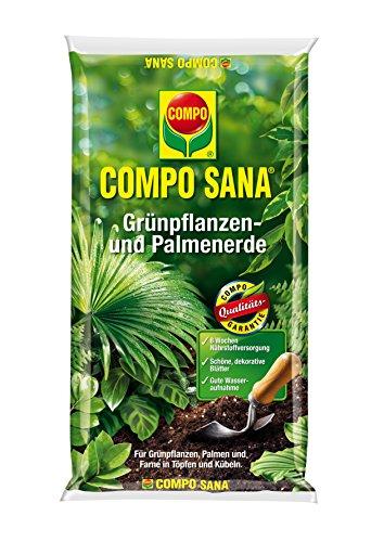 Compo 1143102004 Sana grünpflanzen und Palmenerde, 10 L