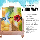 US Art Supply Solid Solana Adjustable Wood Desktop