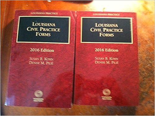 louisiana civil practice forms louisiana practice library susan b