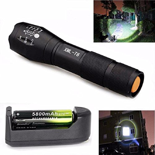 Lookatool-Zoomable-3500-Lumens-5-Modes-CREE-XML-T6-LED-Flashlight-Lamp-With-18650Charger