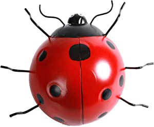 OwMell Big Size Colorful Metal Ladybug Wall Decor Wall Art Decoration Sculpture Indoor Outdoor Home Garden Yard Lawn Art Decor 12