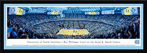 (North Carolina Tar Heels Basketball - Single Mat, Select Framed Print by Blakeway Panoramas)