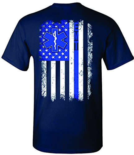 Patriot Apparel EMT Emergency Medical Technician T-Shirt (Large, - T-shirt Emt Dark