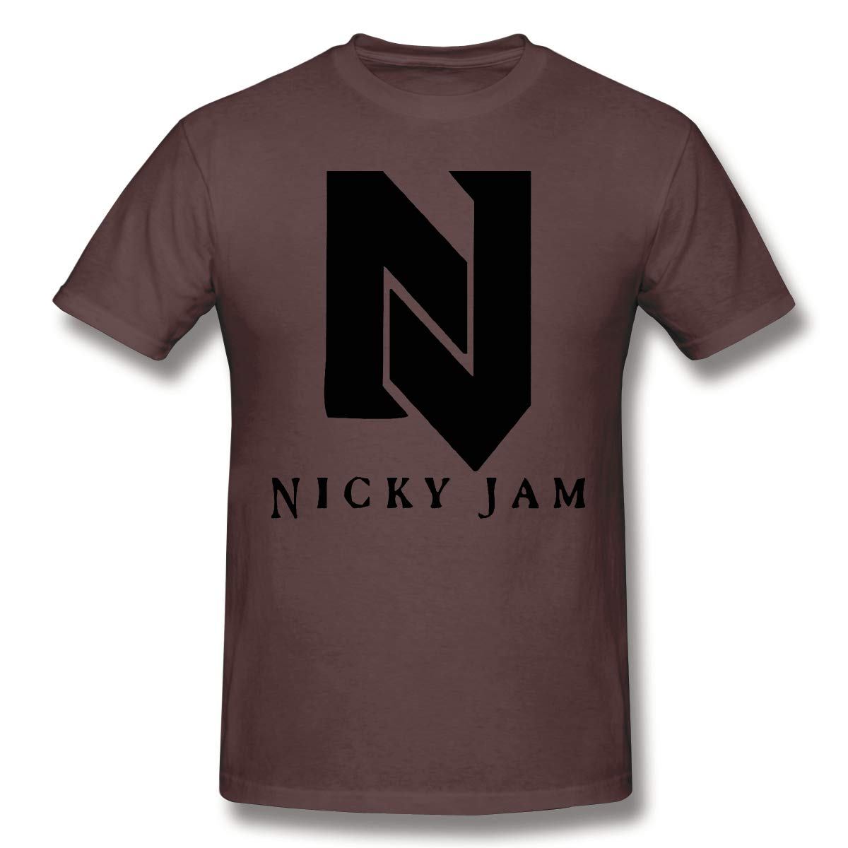 S Short Sleeve Tshirt Original American Leisure Nicky Jam Logo Coffee
