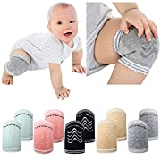 Onshine Baby Kneepads for Crawling Anti-Slip Breathable Infants Knee Pads 5 Pairs