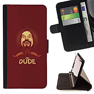 DEVIL CASE - FOR Samsung Galaxy A3 - Dude Beard Hipster Man Portrait Drawing - Style PU Leather Case Wallet Flip Stand Flap Closure Cover
