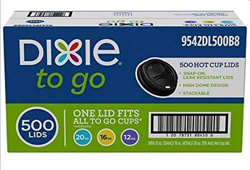 RMK Hot Cup Plastic Lids, Black, Fits 12oz./16oz./20oz. (500ct.) ()