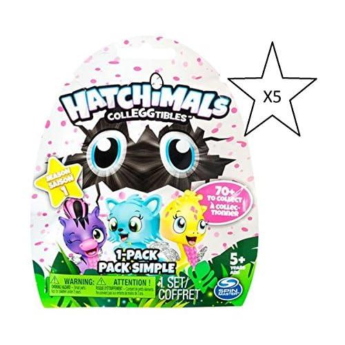 Hatchimals Colleggtibles Season 1 Blind Bag Bundle - 5 paquets fournis