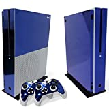 Cheap WPS Glossy Protecive Vinyl Decal Skin / stickers Wrap Cover For Xbox One S slim Console + 2 controller (Dark blue glossy)