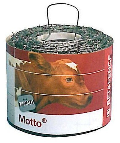 Betafence 158010Galvanised Barbed Wire, Motto, 100MT