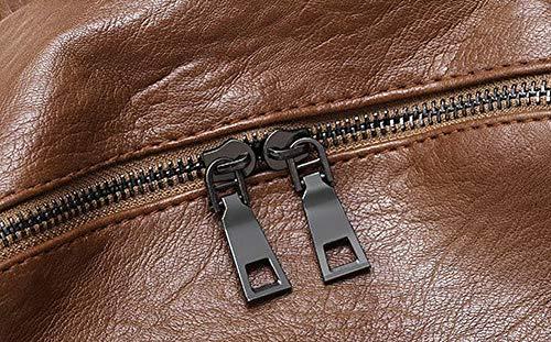 Tout bandoulière Sacs Noir Femme PU Mode Zippers TSFBG182215 Achats Cuir Sacs fourre Brun AalarDom à qIwzUgPq