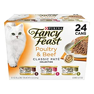 Purina Fancy Feast Classic Gourmet Variety Pack Wet Cat Food (24) 3 oz. Cans