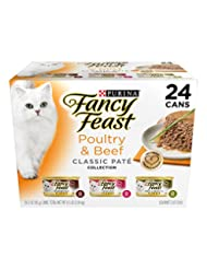 Purina Fancy Feast Classic Poultry & Beef Collection Cat Food...